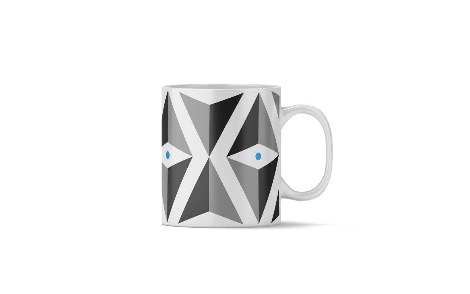 Blue Lg Triangle Mug
