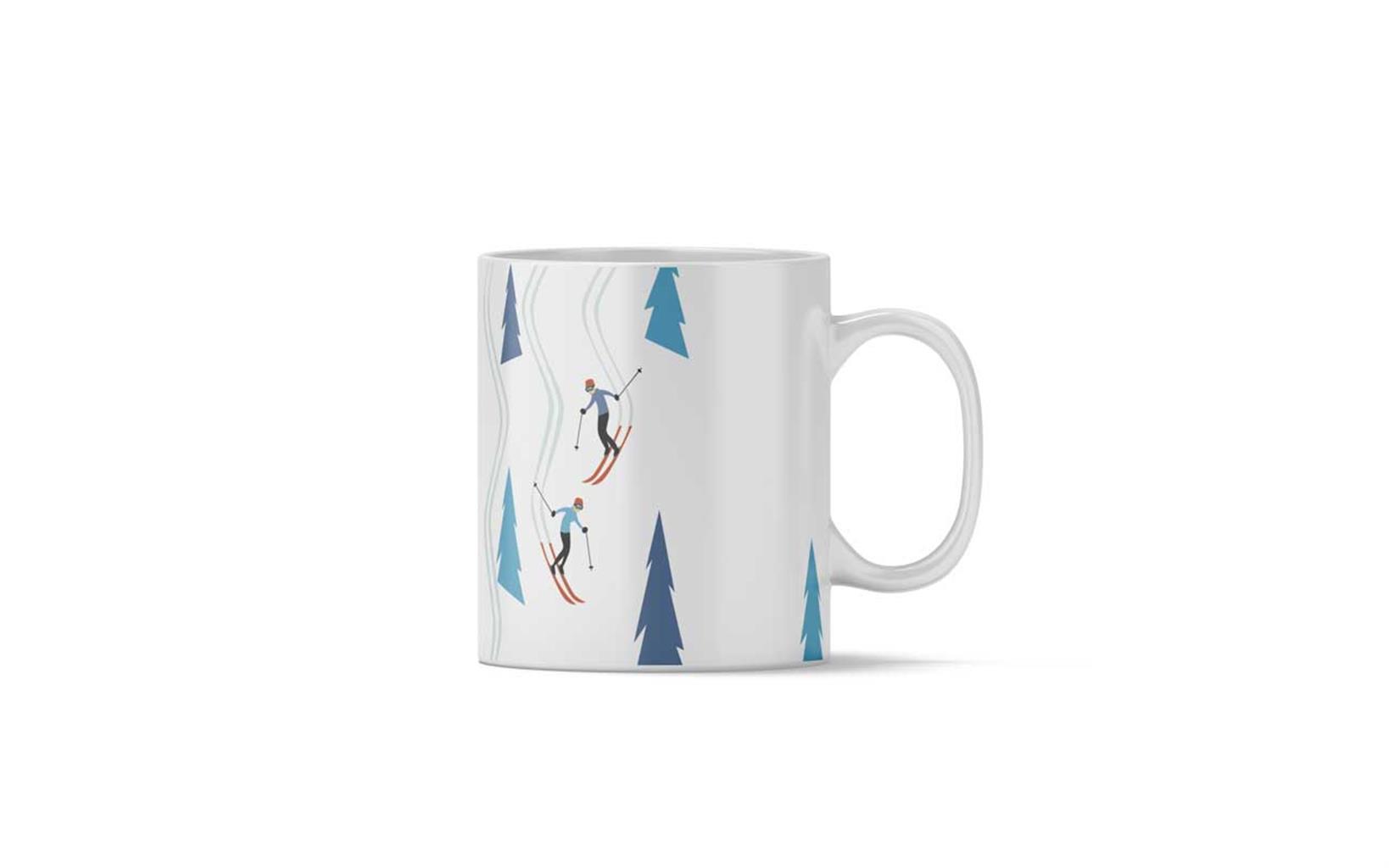 Ski tracks mug, Charlie Adam