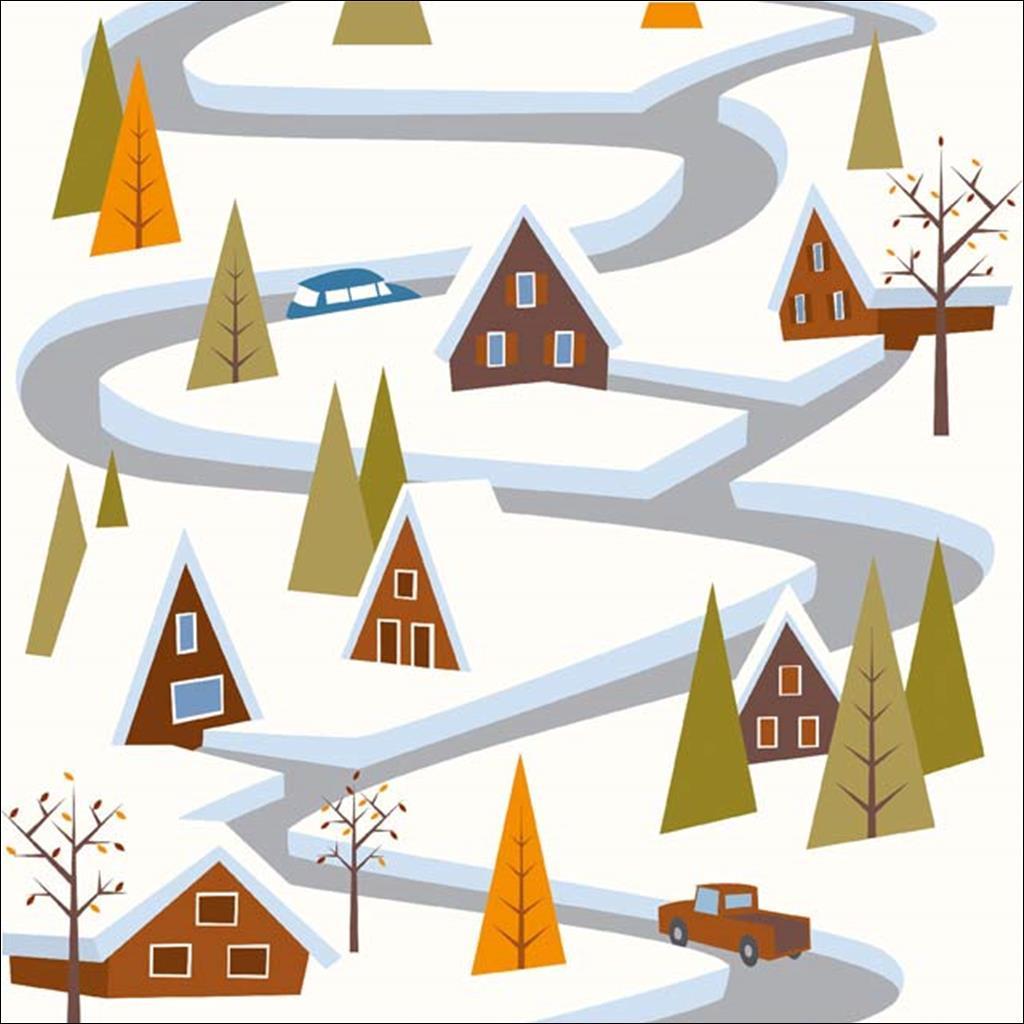 Routes d'hiver