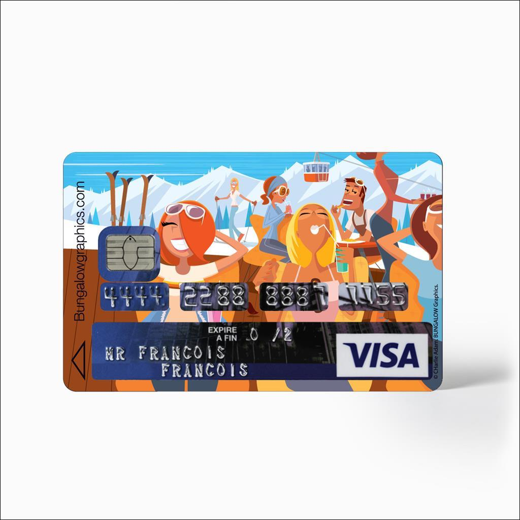 Sticker carte bleu - Solarium