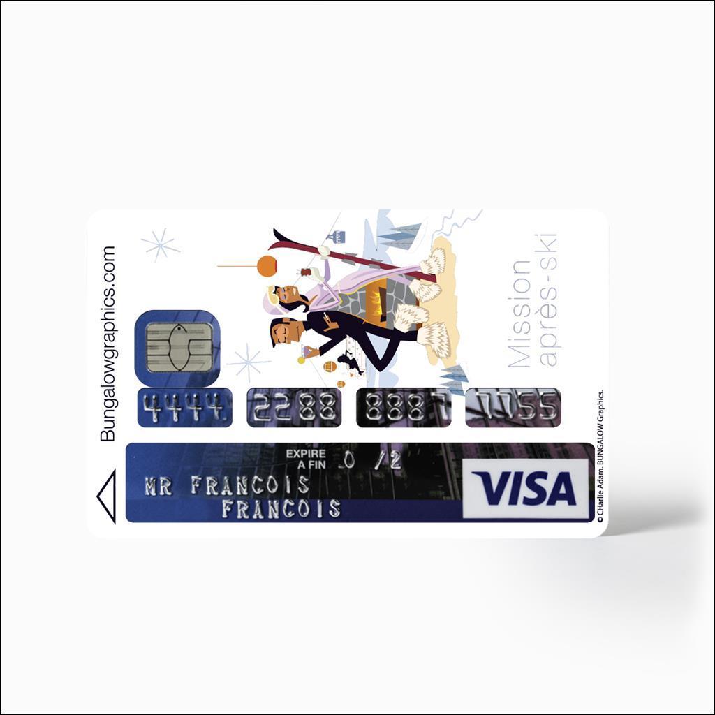 credit card sticker - Mission Après Ski