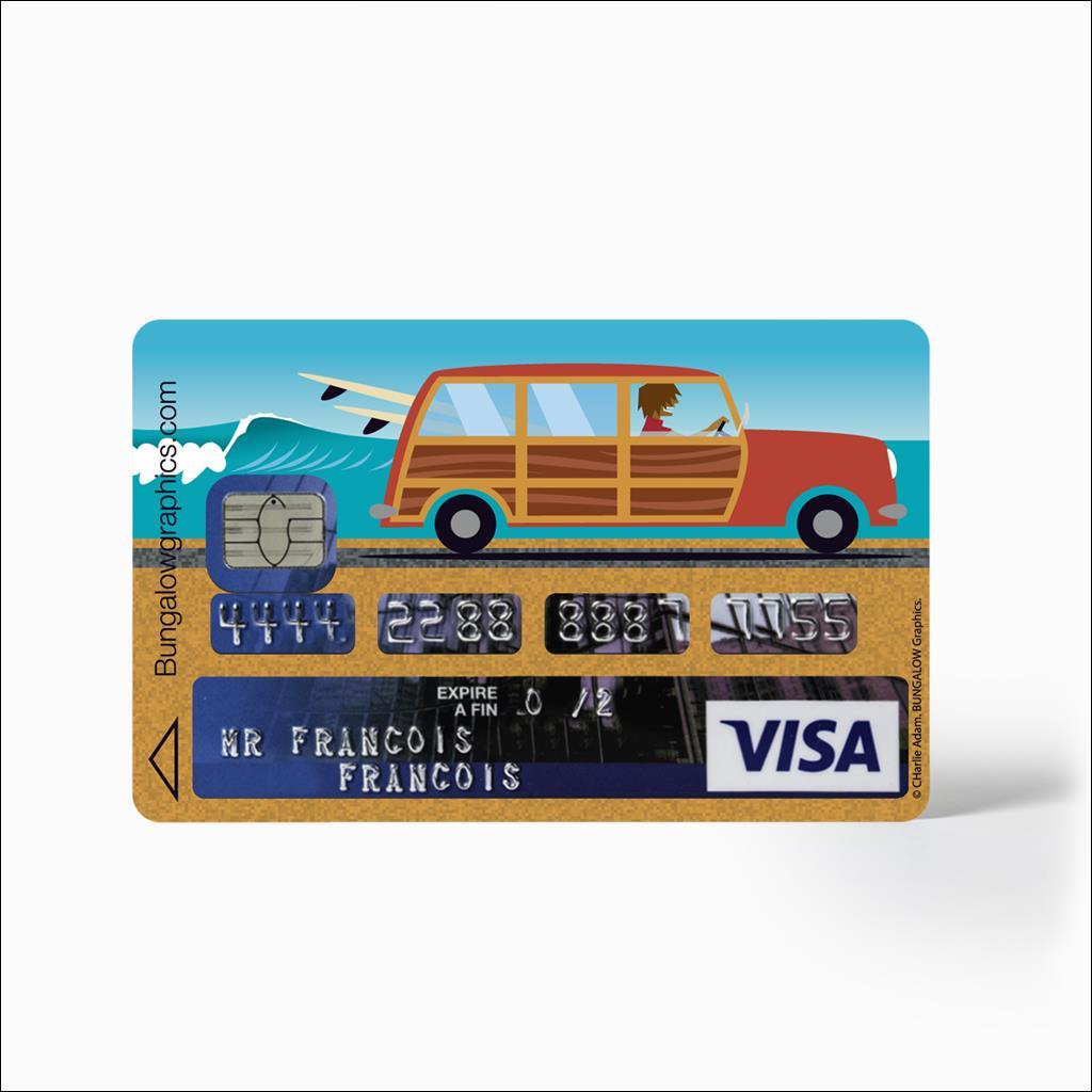 Sticker carte bancaire - Woody