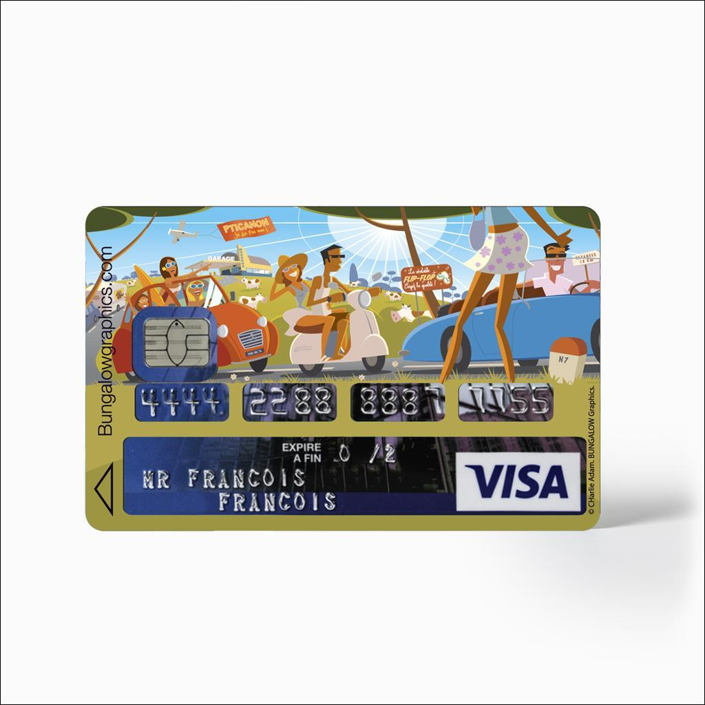 credit card stickers - National 7