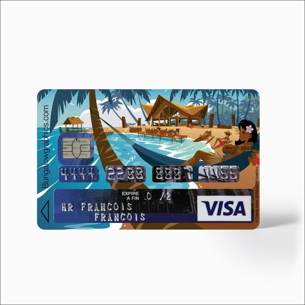 credit card Sticker - Lazy Beach