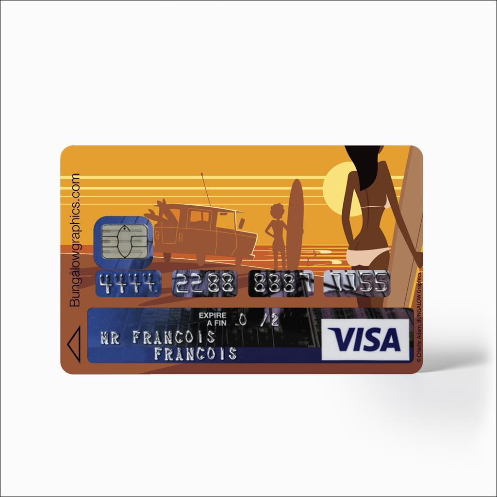 credit card Sticker - Surf Camp