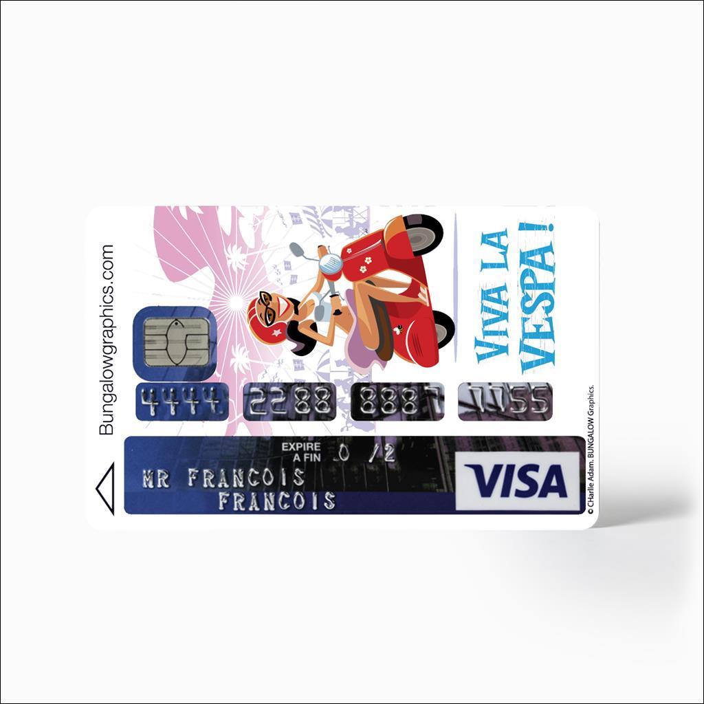 Sticker carte bancaire - Vespa