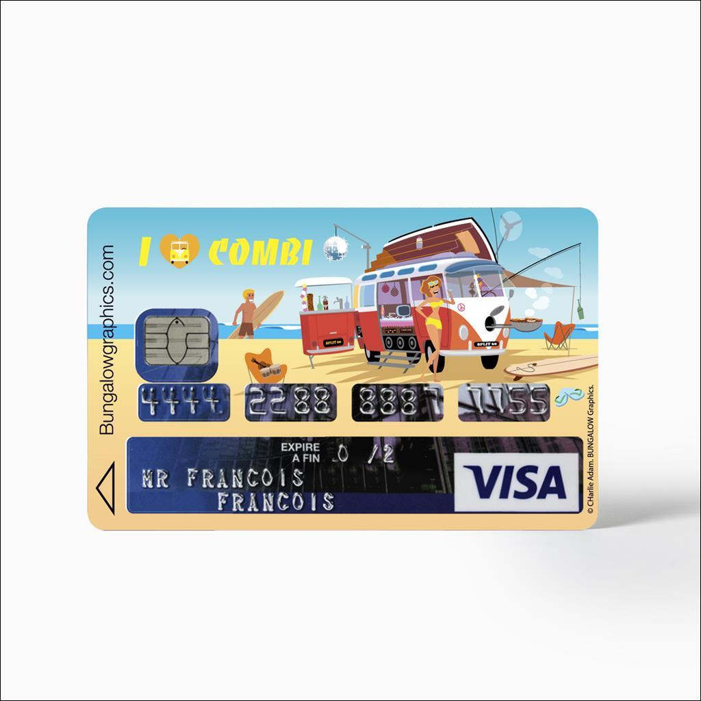 credit card Sticker - Combi