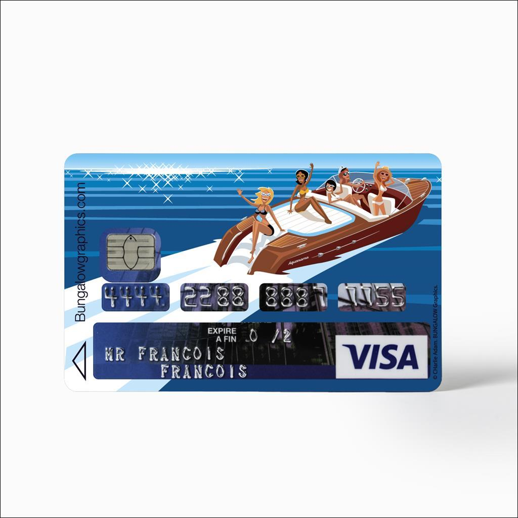 Sticker carte bancaire - Arrivederci
