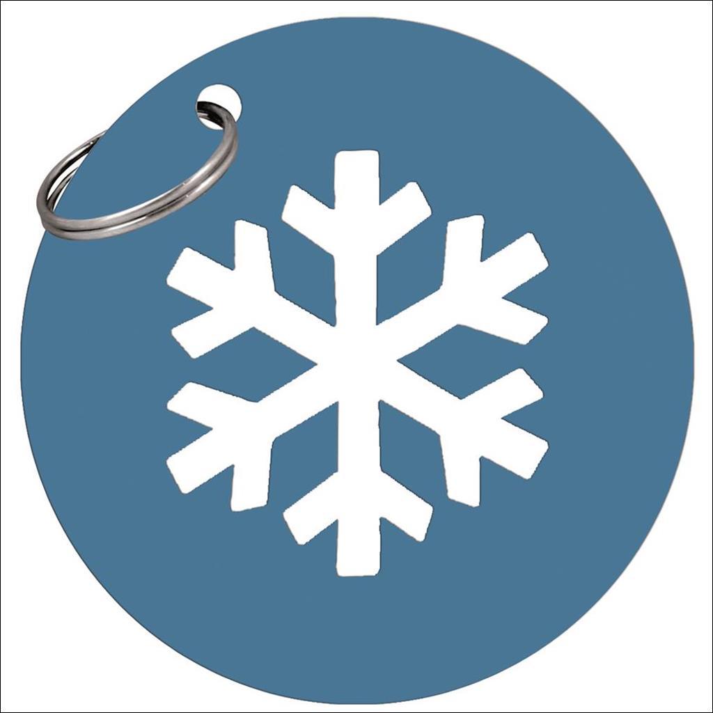 Metal Snowflake keyring - Blue