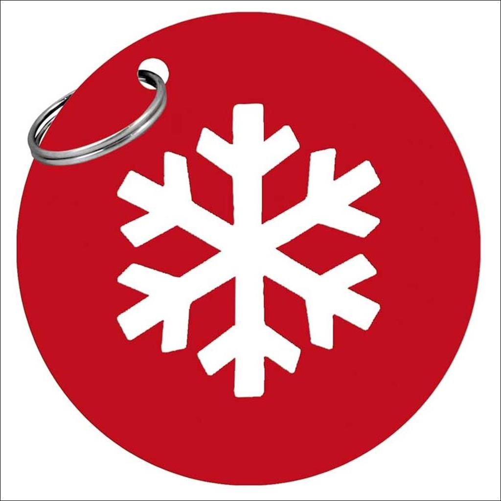 Metal Snowflake keyring - Red