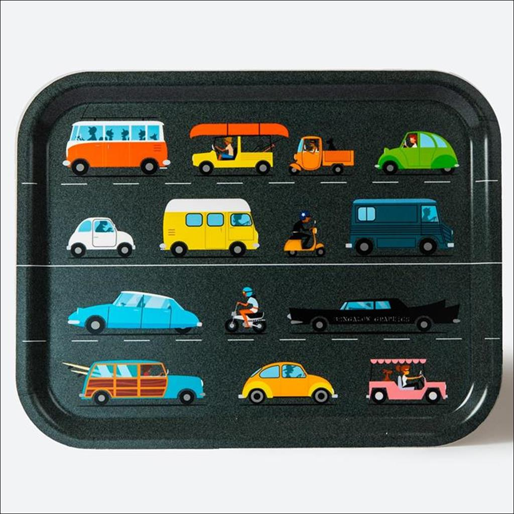 Vintage cars - Wooden tray