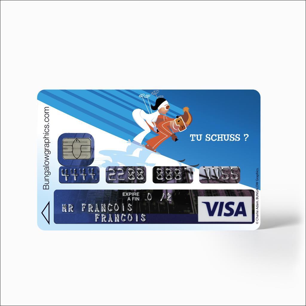 Sticker Carte Bleu - Tu Schuss?