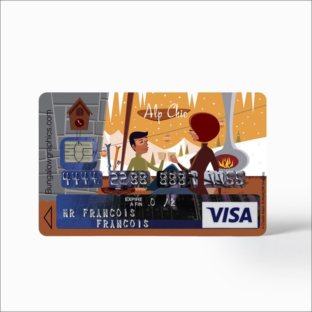Sticker Carte Bleu - Alp Chic CHX