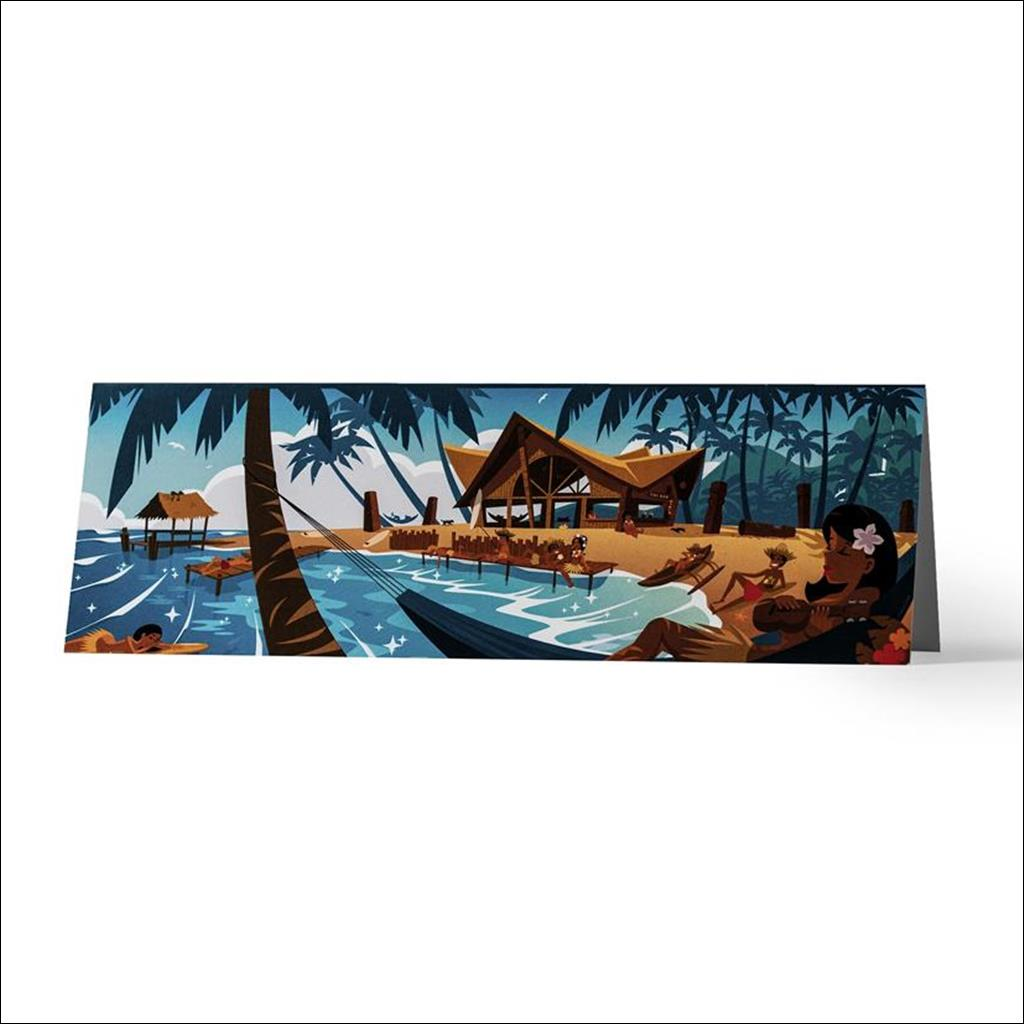Lazy Beach - Greetings card