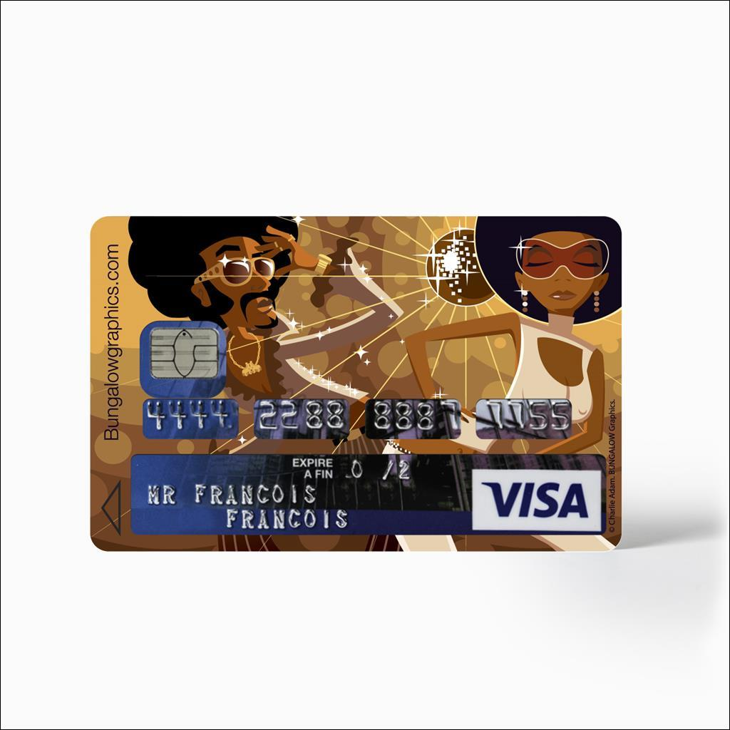 Sticker Carte Bancaire - Disco