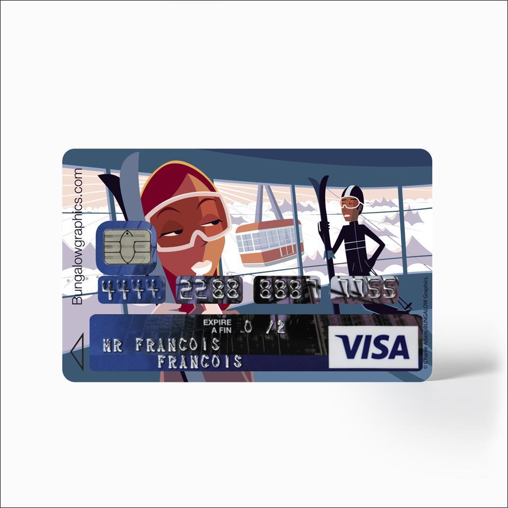 Sticker carte bancaire - Cablecar