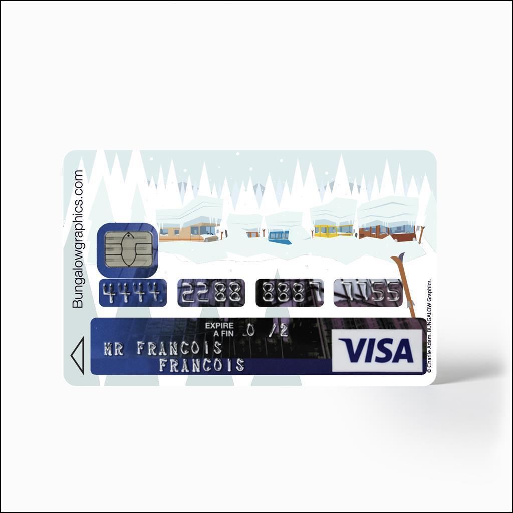 Credit Card sticker - Fevrier