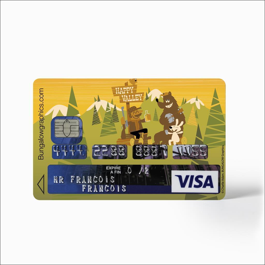 Sticker carte bancaire - Happy Valley