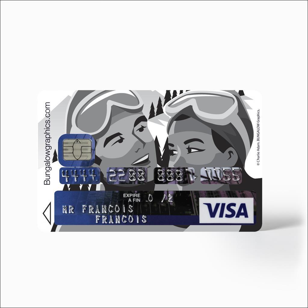 Sticker carte bancaire - Mr&Mme