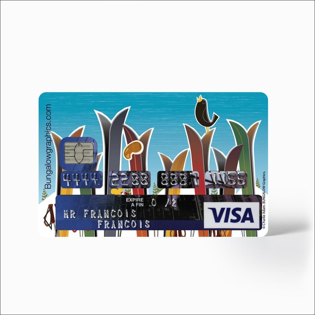 Sticker carte bancaire - Ski de Printemps