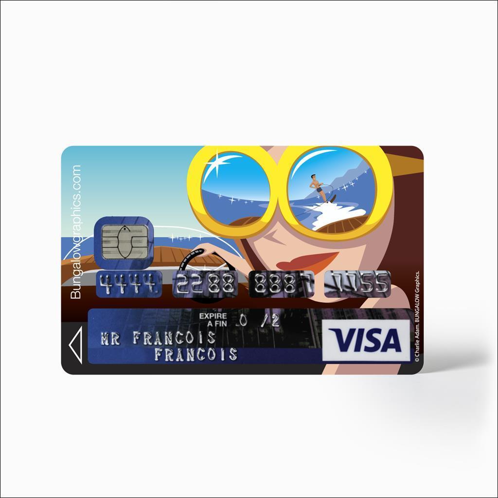 Sticker Carte bancaire - Riva Diva
