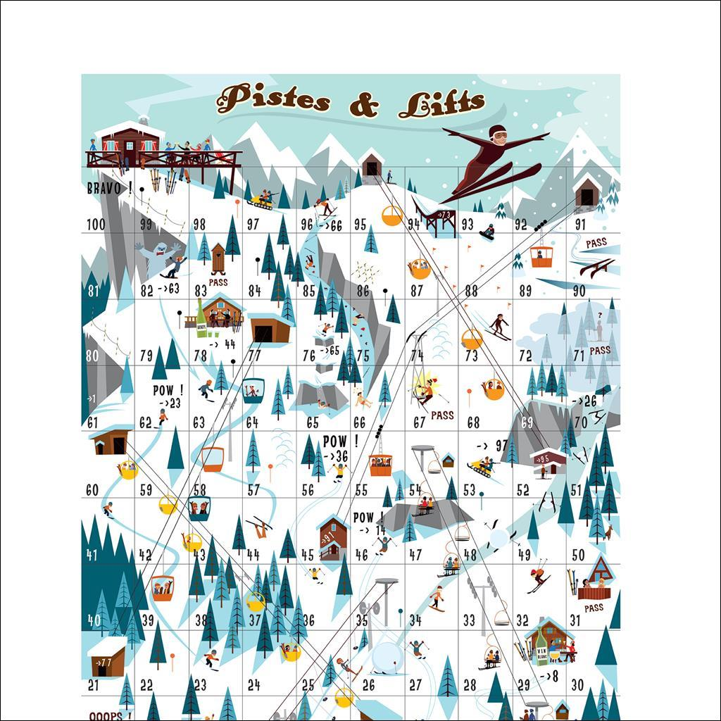 Pistes & Lifts - Le jeu