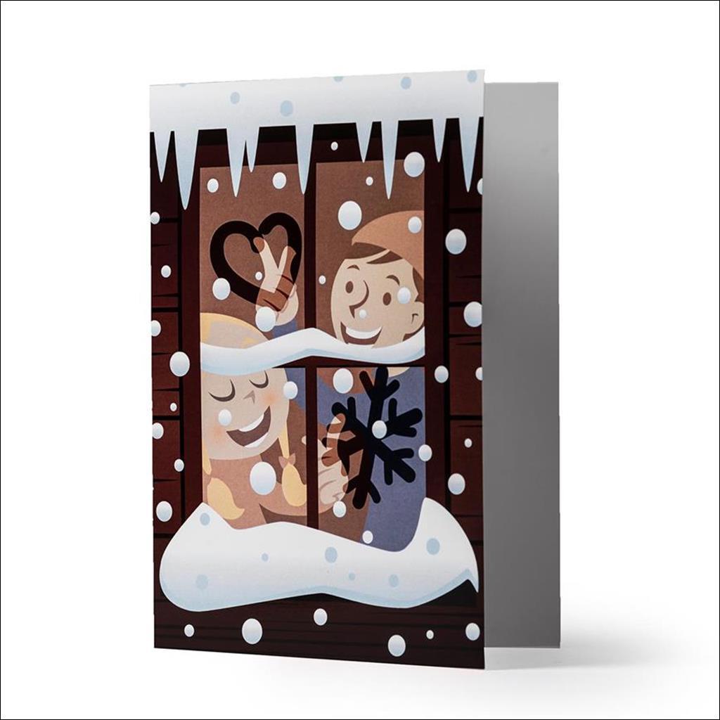 Carte de voeux Love Snow