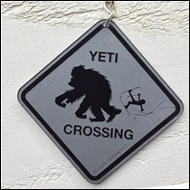 Porte clé Yéti crossing