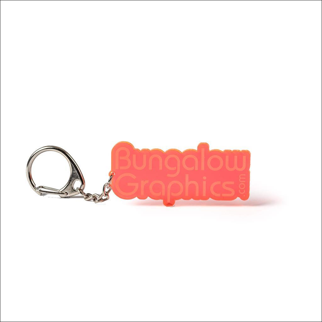 Porte clé Bungalow Graphics Orange