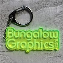 Porte clé Bungalow Graphics Jaune