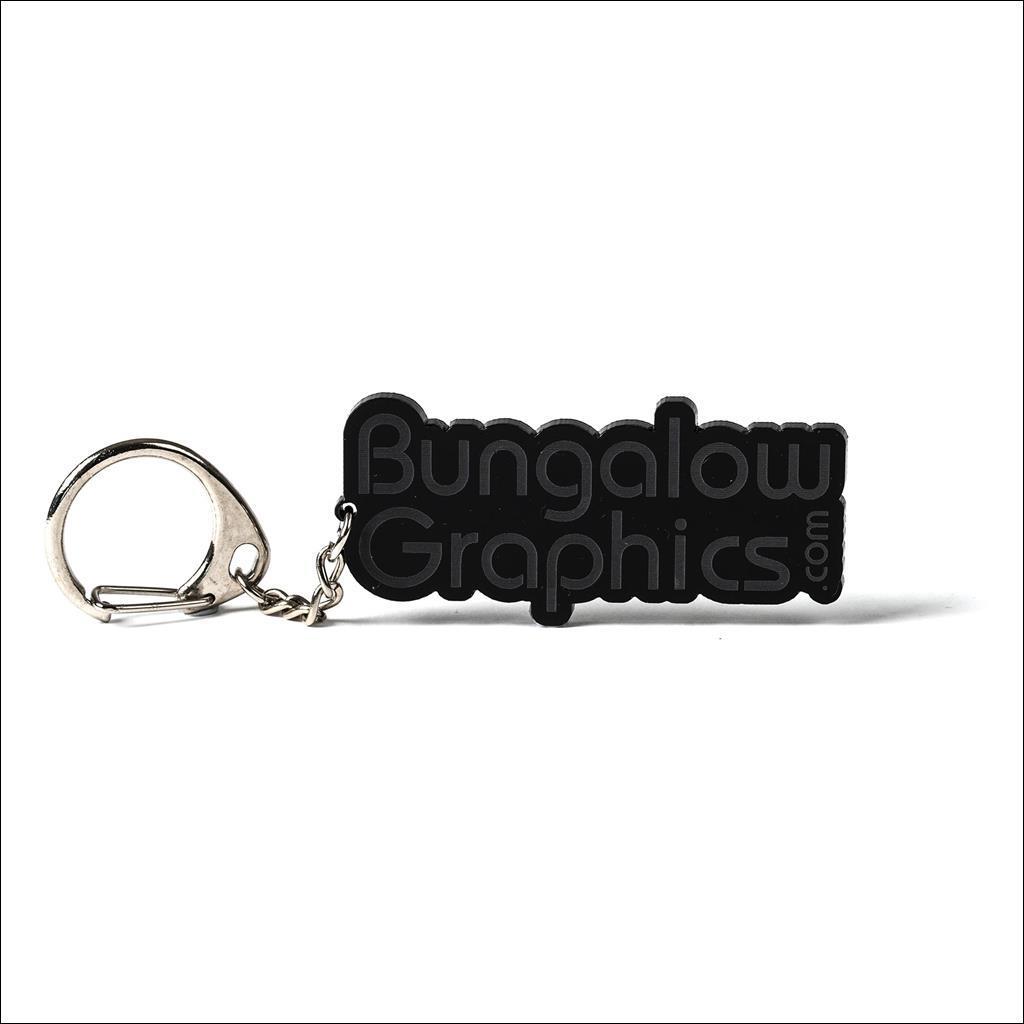 Porte clé Bungalow Graphics Noir