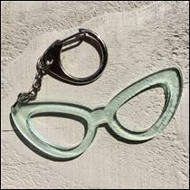 Porte clé Lunettes femme Cristal
