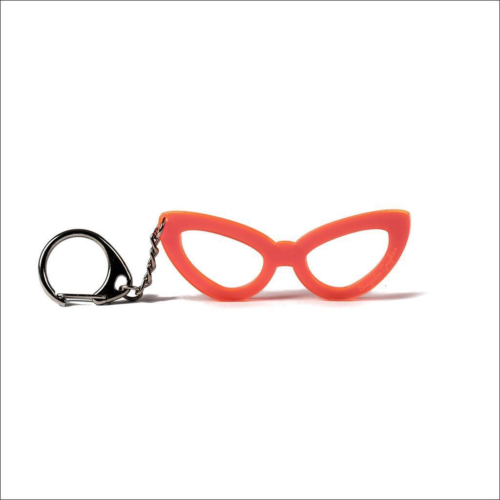 Porte clé Lunettes femme Orange