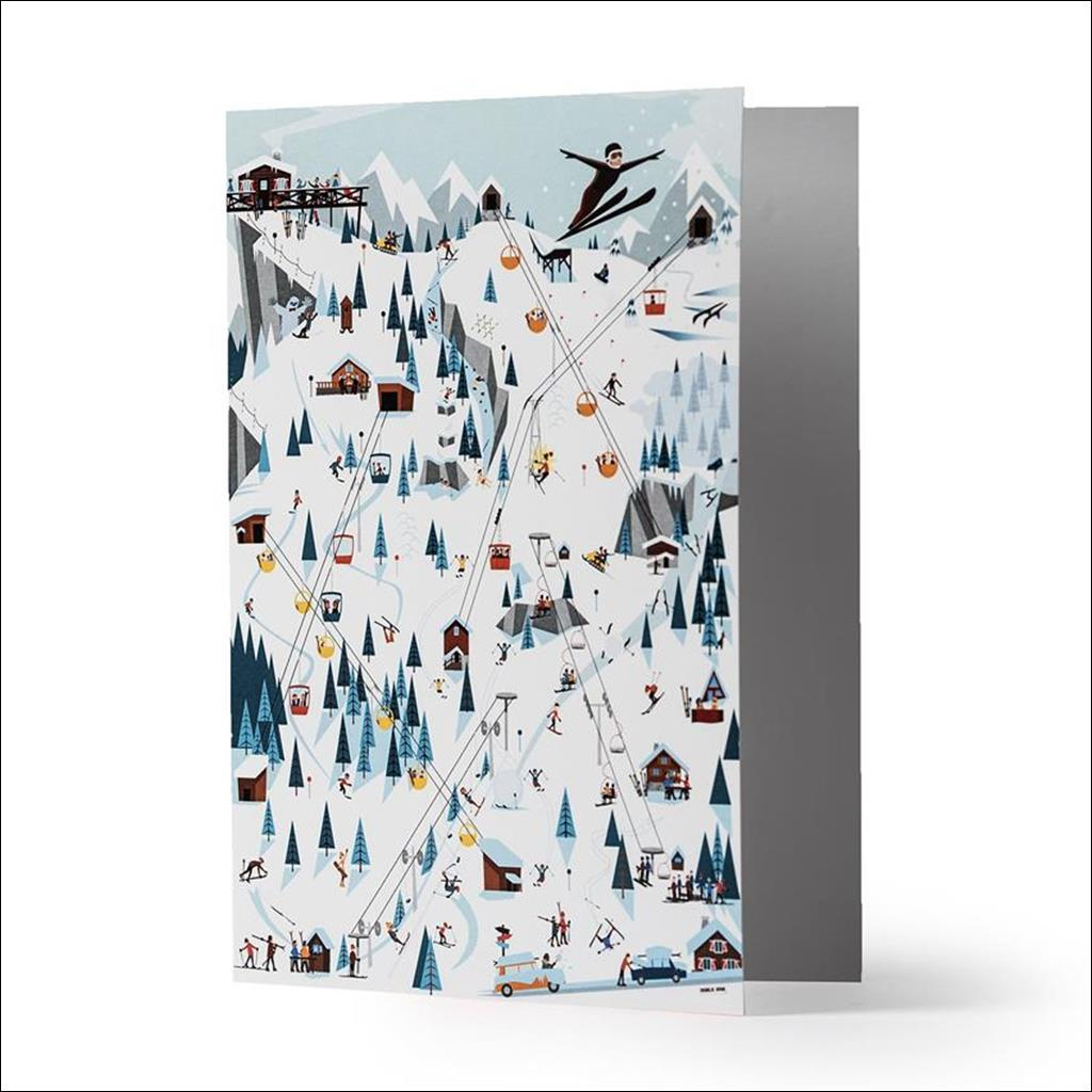 Pistes & Lifts Carte de Voeux