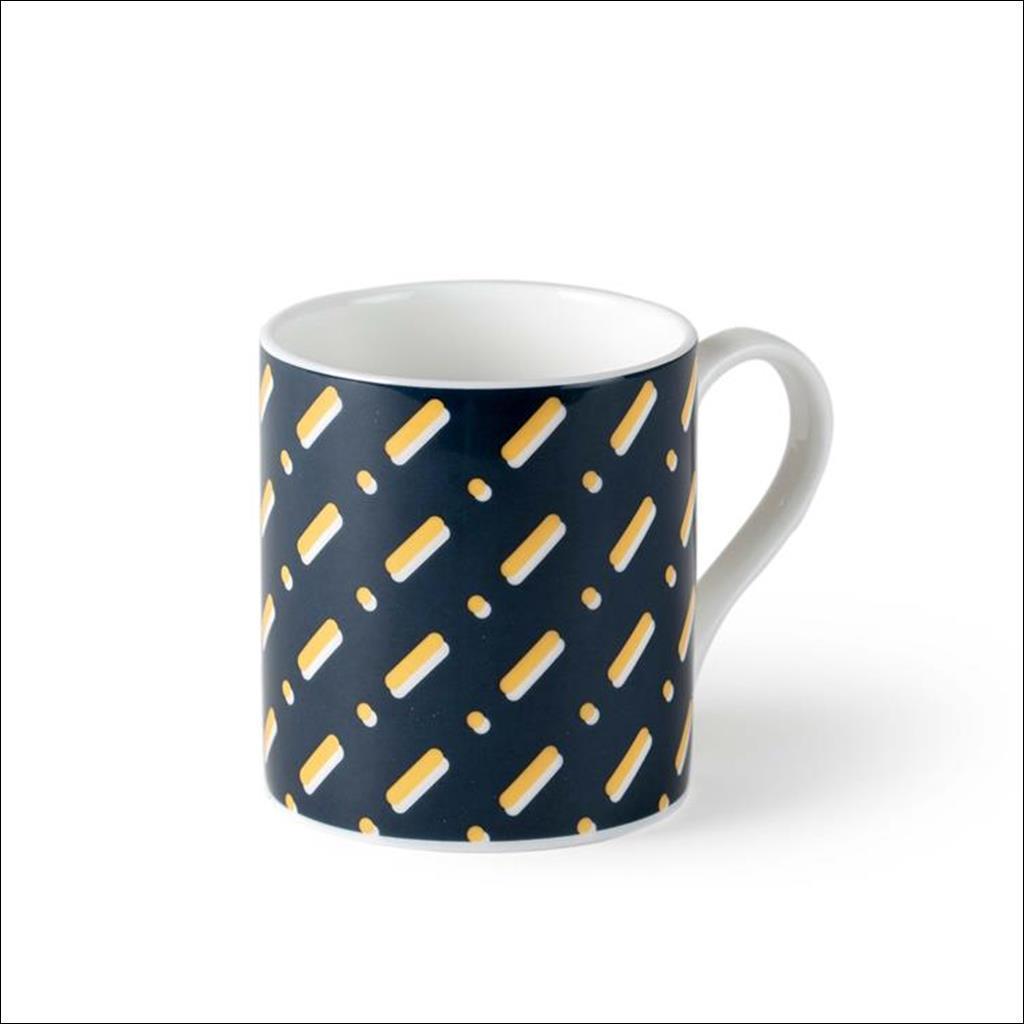 Lines on Teal Mug