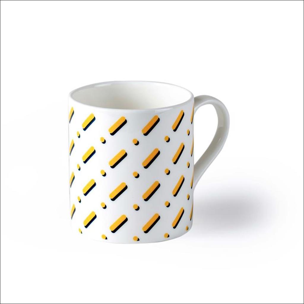 Lines on White Mug