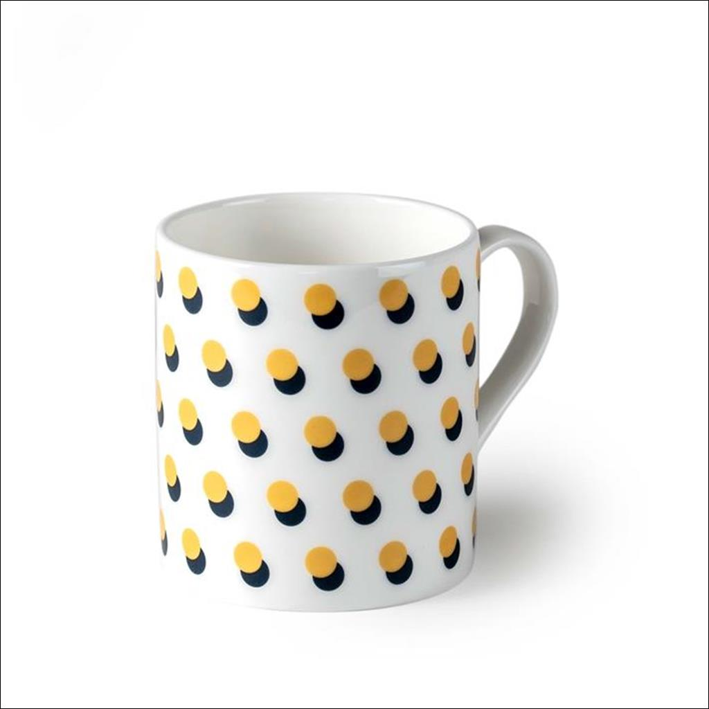 Dot on White Mug