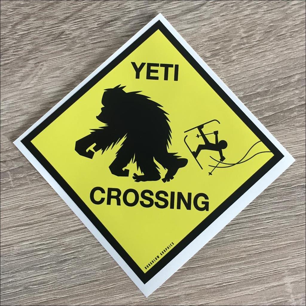 Sticker YETI CROSSING