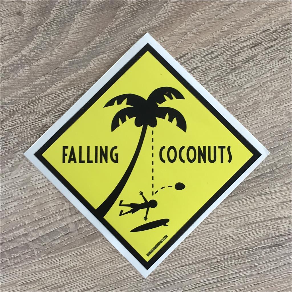 Sticker FALLING COCONUTS