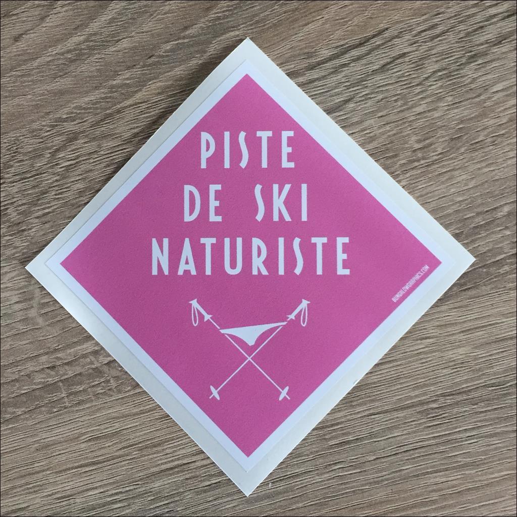 Sticker PISTE NATURISTE