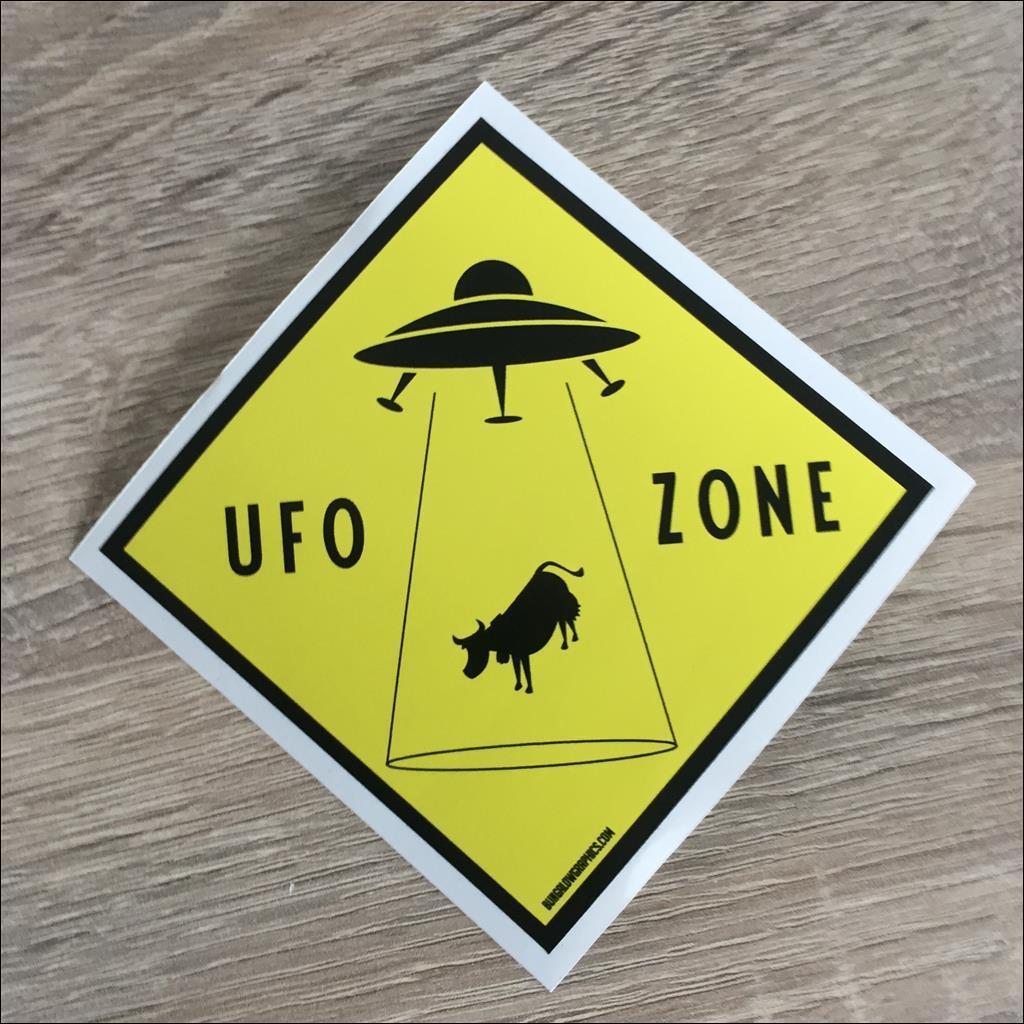 Sticker UFO ZONE