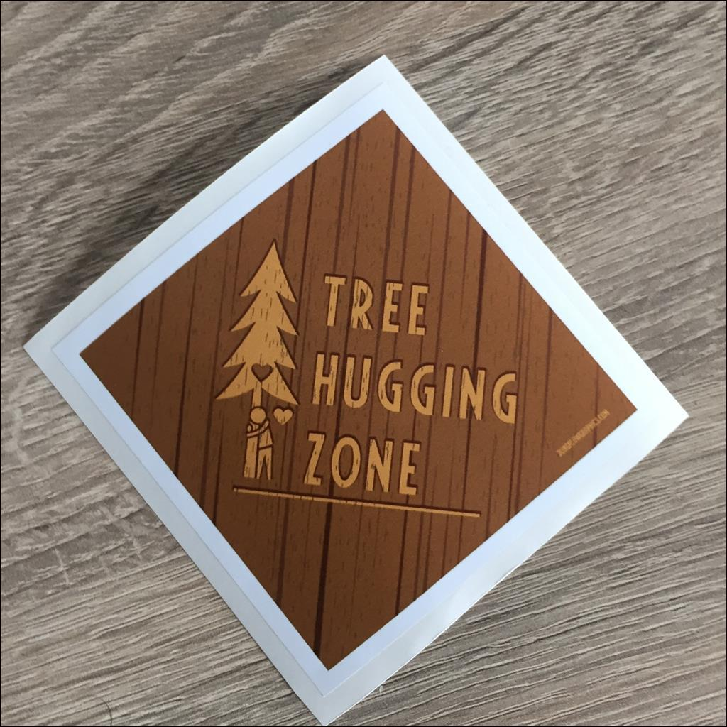 Sticker TREE HUGGING ZONE