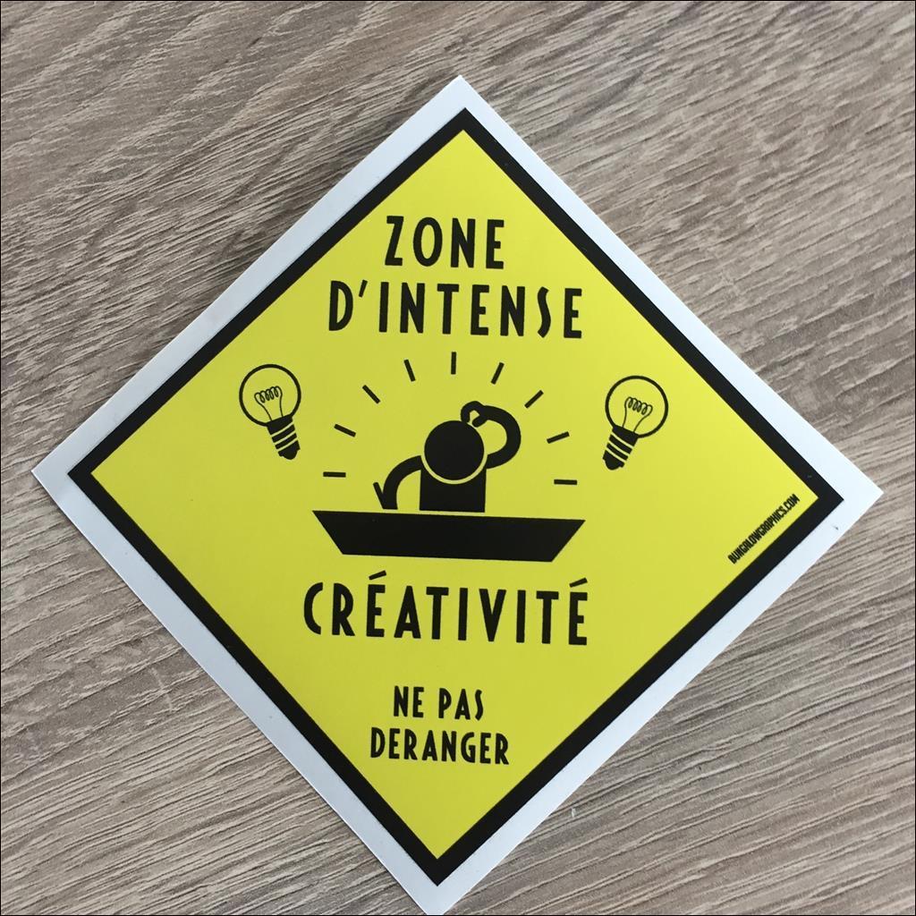 Sticker ZONE INTENSE CREATIVITE