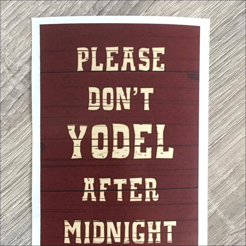 Sticker DON'T YODEL AFTER MIDNIGHT