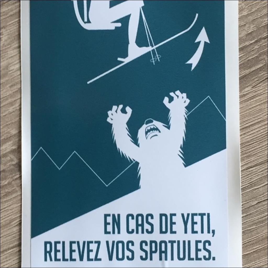 Sticker EN CAS DE YETI