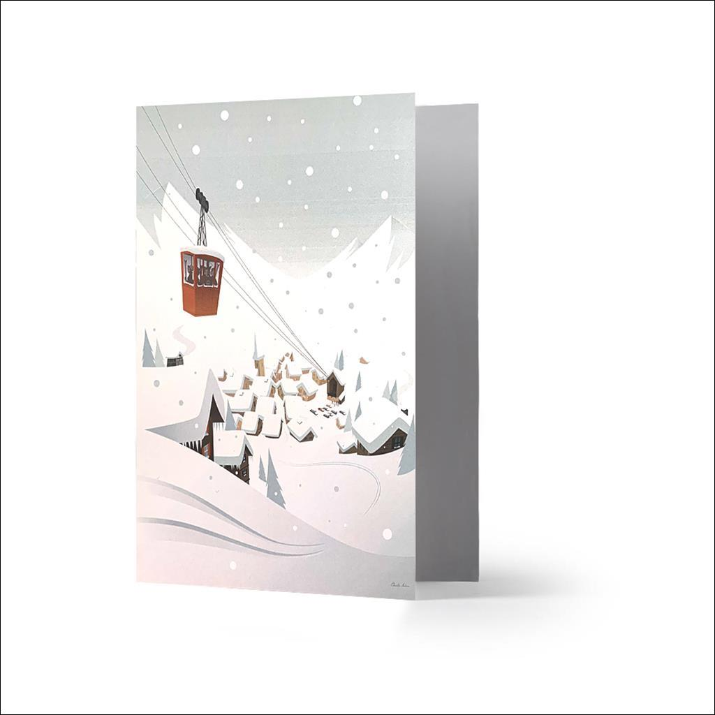 jour blanc - Carte de voeux