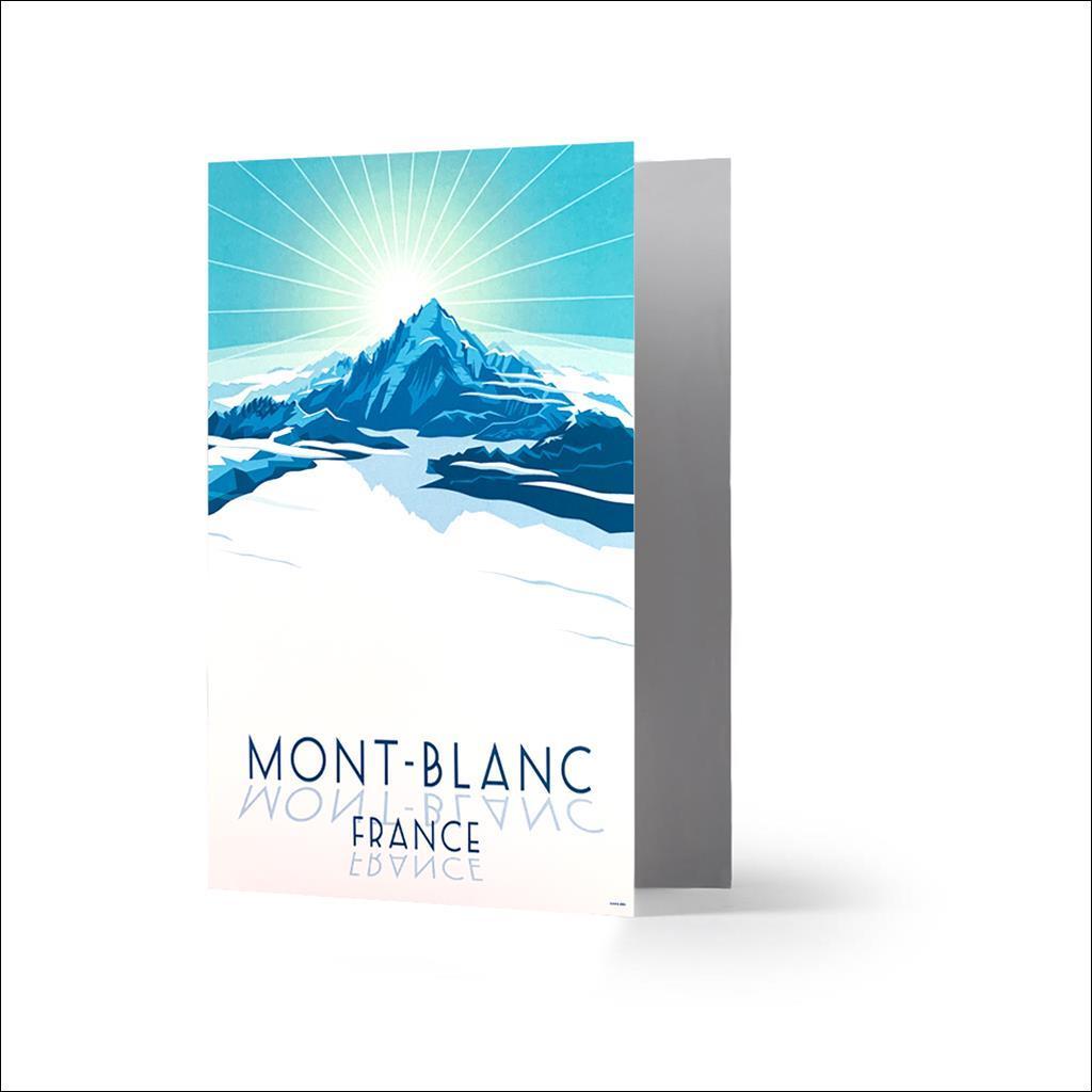 mont blanc france - Carte de voeux