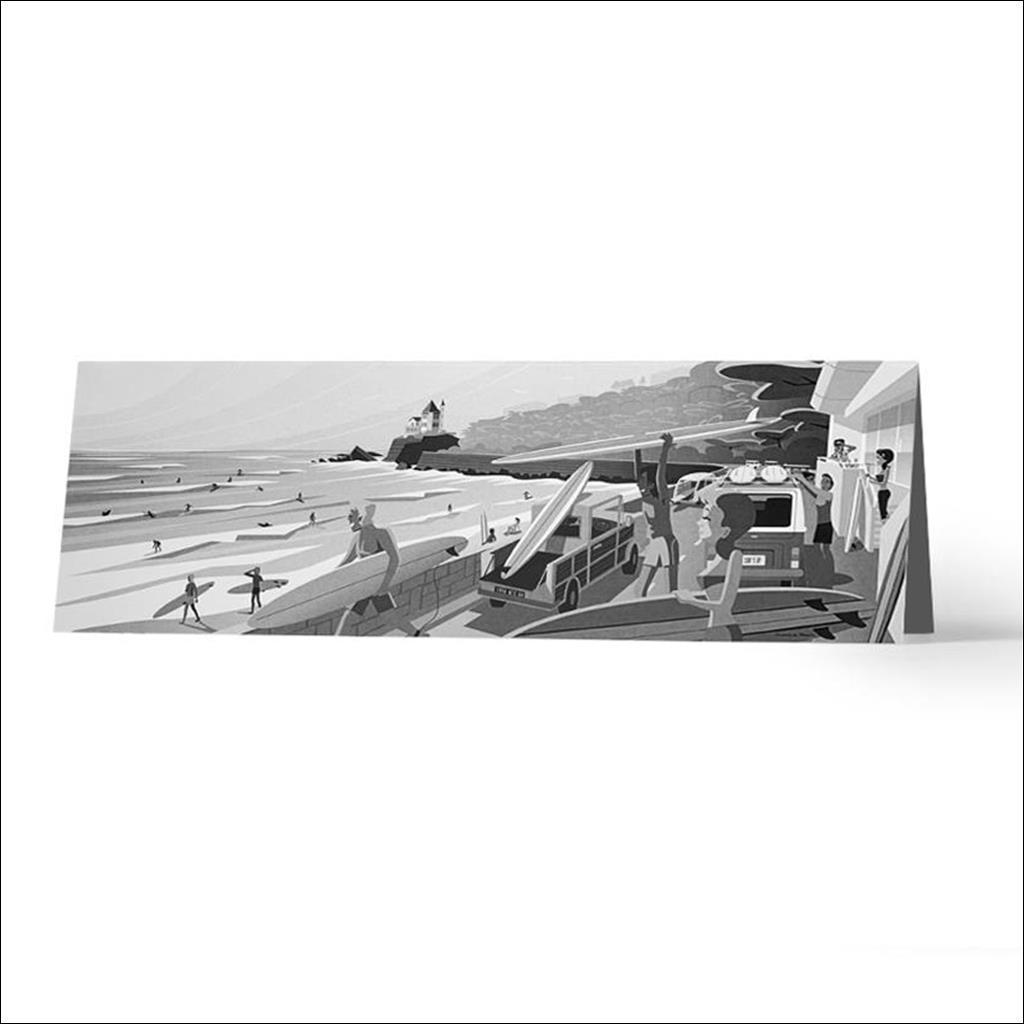 Surf's up noir et blanc