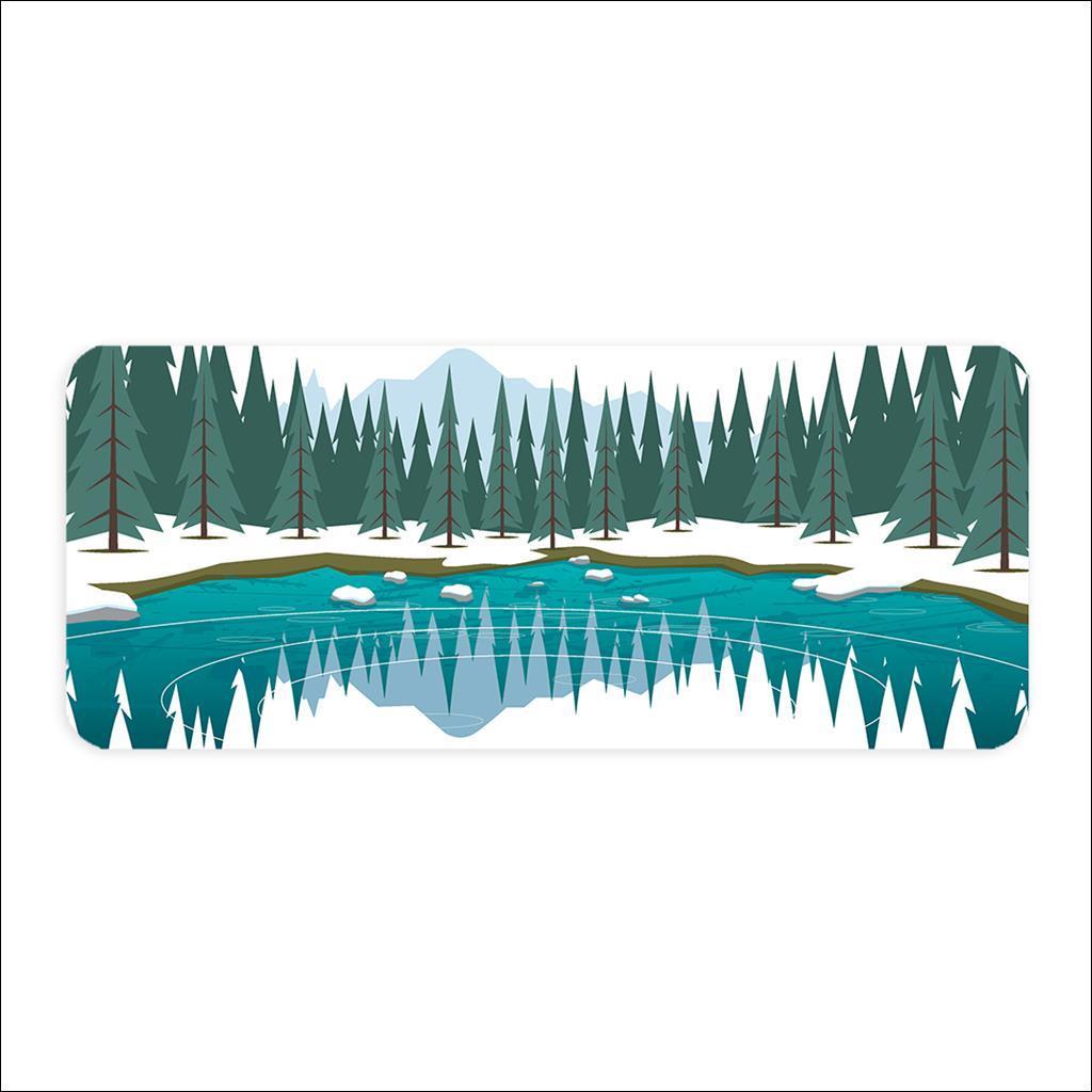 Planche à découper - Lac vert