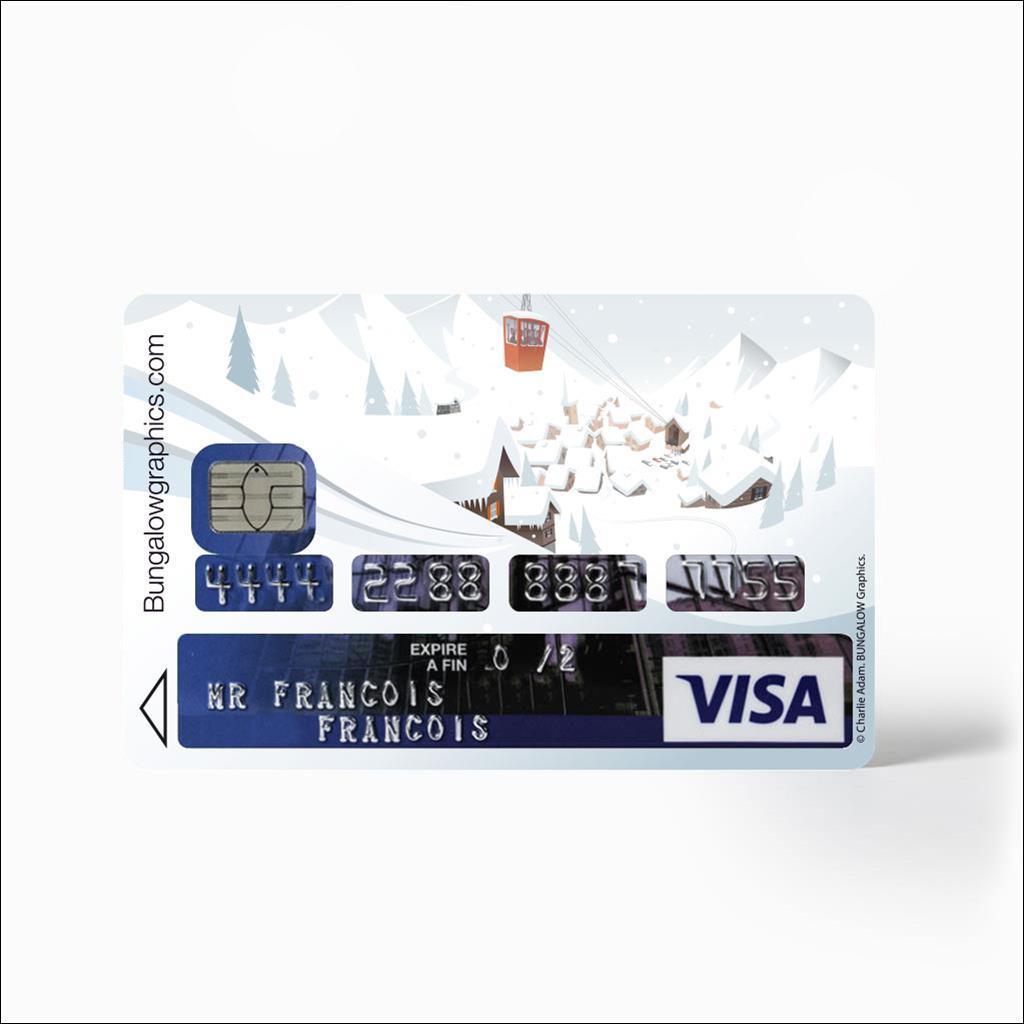 Sticker carte bancaire - Jour blanc